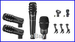 Audio-Technica PRO-DRUM4 Drum Microphone Kit AT PRODRUM4 Mic Package Set