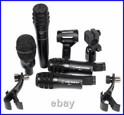 Audio Technica PRO-DRUM4 Drum Microphone Kit with(4) Dynamic Mics Kick, Snare, Tom