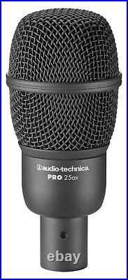 Audio Technica PRO-DRUM4 Drum Microphone Kit with(4) Mics+Mackie In-Ear Monitors