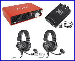 Audio Technica Podcasting Podcast Recording Bundle with (2) Headsets/Mics