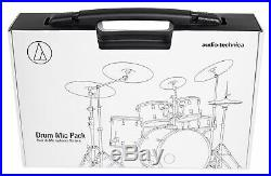 Audio Technica Pro Drum Microphone Kit with (7) Mics For Church Band Sound System