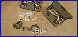 Audio technica headset microphone colour beige (x2) Package + 2 lapel mic