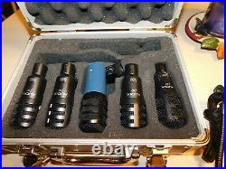 Audix Drum Mic Set (3 F10s, 1 F12) & audio technica mb 5k With Case & Clips