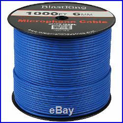 Blastking Bulk 6mm Microphone Mic Audio Cable Reel Roll 1000' feet Ft. Blue
