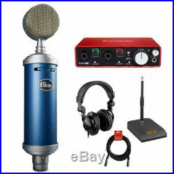Blue Bluebird SL Condenser Mic with Audio Interface, Stand, Headphone & Cable