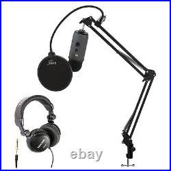 Blue Microphones Yeti Slate USB Mic with Knox Boom Arm, Headphones and Filter