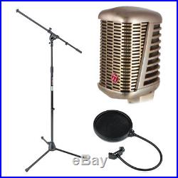 CAD Audio A77 Supercardioid Large Diaphragm Dynamic Mic + Mic Stand + Pop Filter