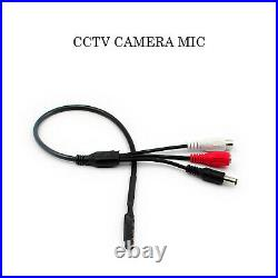 CCTV MIC Audio Microphone Voice with RCA Output for CCTV Camera DVR Indoor