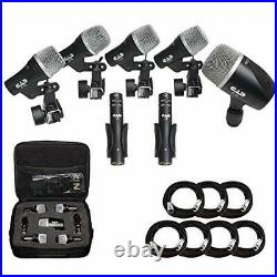 Cad Audio Stage7 Premium 7-Piece Drum Instrument Mic Pack with Vinyl Carrying