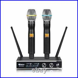 D Debra Audio PRO D-220 UHF Wireless Microphone System With Dual Mics For