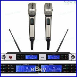 Dual SKM9000 Handheld Wireless Audio Microphone System UR4D Digital Receiver Mic