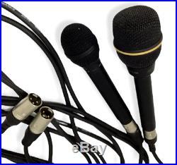 EV Microphone N/D 257B Electro Voice Audio Cable Cord Lot 2 Mics Vocal Vintage
