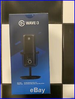 Elgato Wave3 Premium USB Condenser Microphone Mic Wave Lewitt Audio