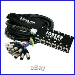 Elite Core 8x4 Channel 25ft Live Recording Audio Stage Snake Xlr Mixer MIC Cable