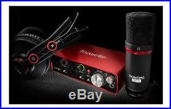 Focusrite Scarlett Solo Studio Pack with Audio Interface Condenser Mic and H/P