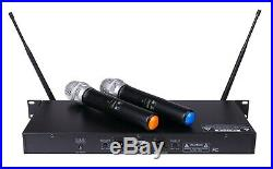 GTD Audio 2x100 Adjustable Channel UHF Wireless Handheld Microphone Mic System