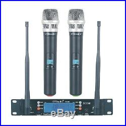 GTD Audio 2x100 Channel UHF Wireless Handheld Microphone Mic System 260H