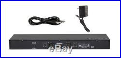 GTD Audio 2x800 Channel UHF Diversity Wireless Microphone Mic System 733H