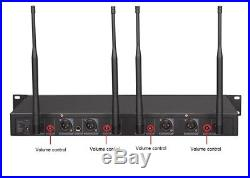 GTD Audio 4x800 Channel UHF Diversity Wireless Handheld Microphone Mic System