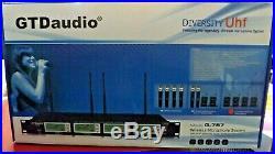 GTD Audio 4x800 Channel UHF Diversity Wireless Microphone Mic System G-787 NEW