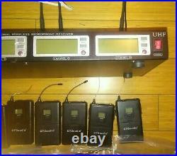 GTD Audio G-787 PLL PRO Wireless Microphone Receiver UHF 6 Lapel Lavalier Mic