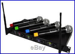 Hill Audio 4 Way Wireless Handheld Mic System