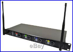 Hill Audio 4 X Wireless Handheld Mic Microphone Radio System UHF