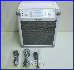 IONAudioPortableKaraokeBluetoothMusicSpeakerwith Effects & MicWhiteGift