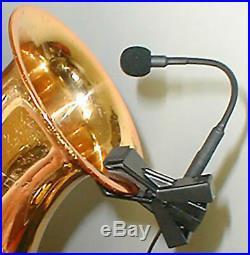 K&K Sound CXM5 Saxophone Mic Clip-on Microphone Pickup withBelt-clip Preamp/Volume