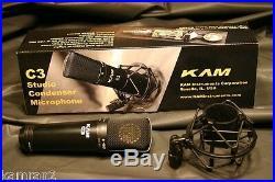 KAM C3 Linear Studio Condenser Mic & Shock Mount U87 type sound