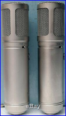 LOT 2 Sterling Audio ST66 Tube Condenser Microphone 2 Power Supplies Mic