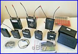 LOT OF 15 PRO WIRELESS AUDIO EQUIPMENT Lectrosonics UCR411A Receivers Tram Mics