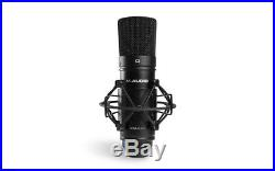 M-Audio MTRACK Podcast Podcasting Kit Headphones+Interface+Mic+Stand+Pop Filter