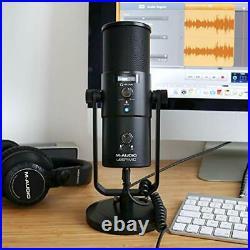 M-Audio Uber Mic USB Desktop Microphone with Audio Interface, Zero Latency
