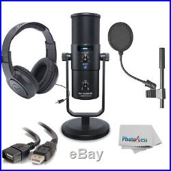 M-Audio Uber Mic USB Microphone + Pop Filter + Headphone + Cable & Clean Cloth
