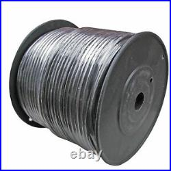MICROPHONE MIC Raw Bulk AUDIO CABLE wire 500ft PREMIUM BLACK balanced shielded