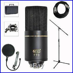 MXL Professional Studio Condenser Mic Recording Bundle Pro Audio Equipment