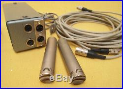 Matched Pair Schoeps CM 060 Condenser MIc Set 60`s 70`s Awesome Sound