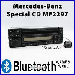 Mercedes Special MF2297 Bluetooth MP3 Radio mit Mikrofon zum Freisprechen 1-DIN