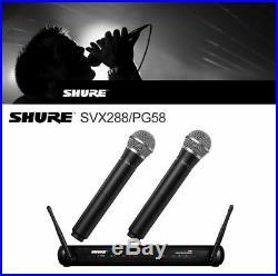 Mic Wireless Professional Microphone Studio Audio SHURE for Dual Vocal SV RU