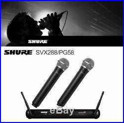 Mic Wireless Professional Microphone Studio Audio SHURE for Dual Vocal SVX288