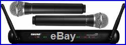 Mic Wireless Professional Microphone Studio Audio SHURE for DualVocal SVX288 Ac