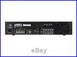 Monoprice Commercial Audio 120W 5ch 100/70V Mixer Amp with Microphone Priority