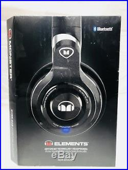Monster Element Over-Ear Sound Isolating Wireless Headphones with Mic- Black