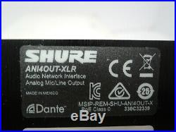 NEW Shure ANI4OUT-XLR Shure 4-Channel Dante Mic/Line Audio Network Interface