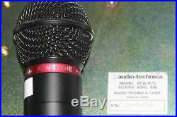 NICE Audio Technica ATW-R73 UHF SYNTHESIZED DIVERSITY RECEIVER + ATW-T76HE MIC