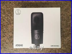 New Audio Technica AT4040 Large Diaphragm Studio Condenser Mic