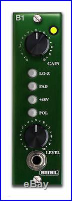 New Burl Audio B1 Mic Microphone Preamp Pre Amplifier 500 Series Module Hardware
