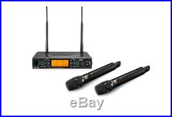 New JTS 2 Channel High Quality Audio Mics Wireless Microphones Receiver Kit Set
