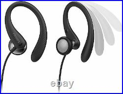 PHILIPS SPORTS HEADPHONES A1105BK/00 With MIC & REMOTE IN-EAR IPX2 BLACK 2020/21